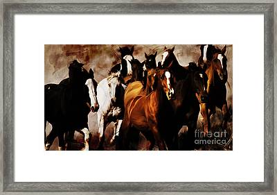 Wild Horses 01 Framed Print by Gull G