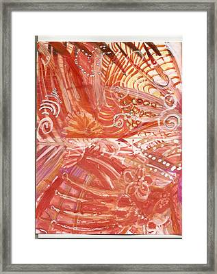 Wild Hot Right Brain Synapse Connections Framed Print by Anne-Elizabeth Whiteway