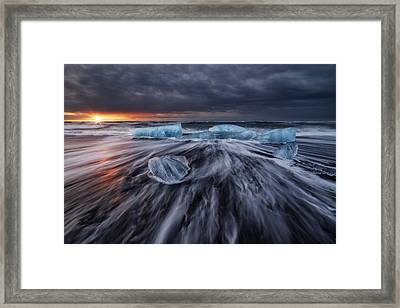 Wild Ice V Framed Print by Juan Pablo De