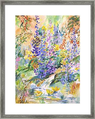 Wild Lupines Framed Print