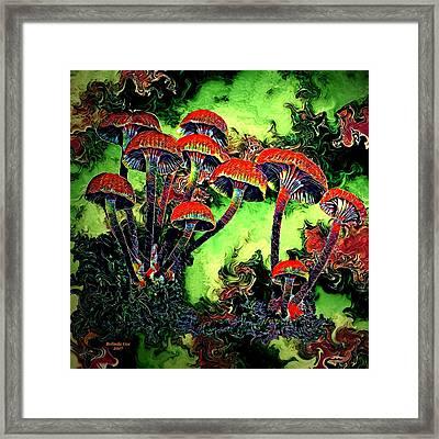 Wild Mushrooms Framed Print by Artful Oasis