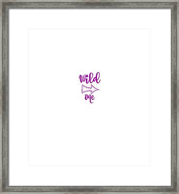 Wild One In Violet Framed Print by Chastity Hoff
