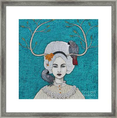 Framed Print featuring the mixed media Wild Orchid by Natalie Briney