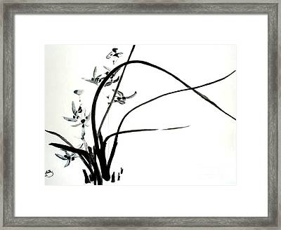 Framed Print featuring the painting Wild Orchid by Sibby S