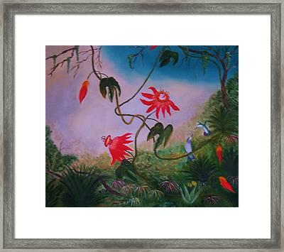 Wild Orchids Framed Print by Alanna Hug-McAnnally