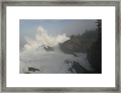 Wild Oregon Coast Framed Print by James Thompson