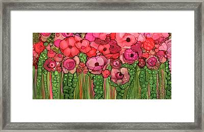 Wild Pink Poppies Framed Print by Carol Cavalaris