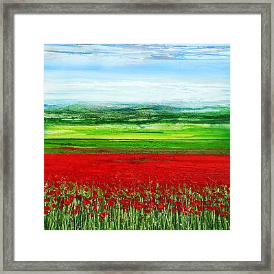 Wild Poppies Corbridge Northumberland 2009 Framed Print by Mike   Bell