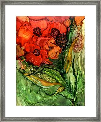 Wild Poppies - Organica Framed Print