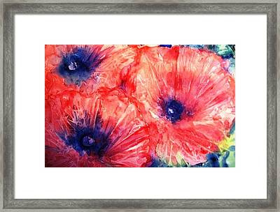Framed Print featuring the painting Wild Poppies by Trudi Doyle