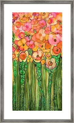 Wild Poppy Garden - Gold Framed Print by Carol Cavalaris