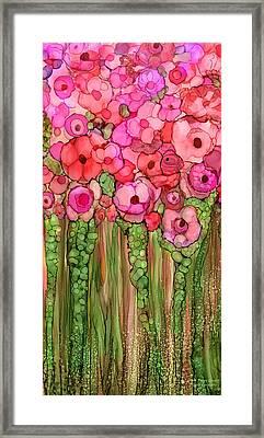 Wild Poppy Garden - Pink Framed Print by Carol Cavalaris