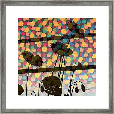 Wild Poppy Silhouette Framed Print by Ruth Palmer