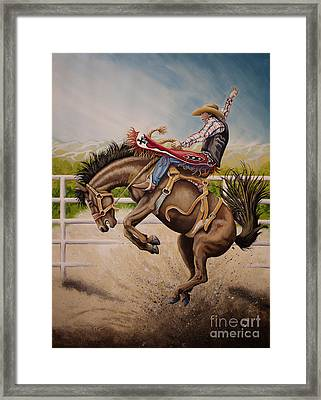 Wild Ride Bronc Framed Print