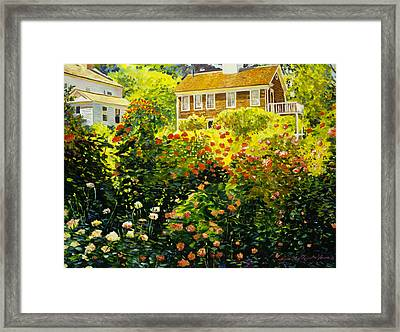 Wild Rose Country Framed Print by David Lloyd Glover