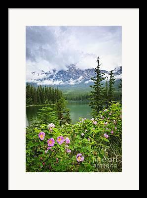 Pyramid Mountain Framed Prints