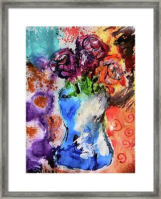 Wild Roses Framed Print by Lisa McKinney