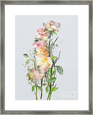 Framed Print featuring the painting Wild Roses by Ivana Westin