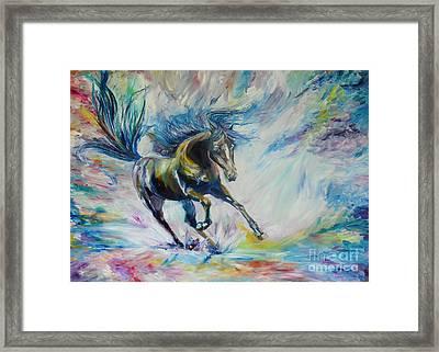 Wild Run. Framed Print