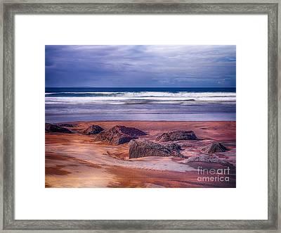 Sand Coast Framed Print by Juergen Klust