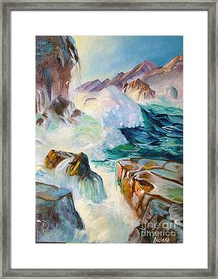 Wild Sea Framed Print by Anisha Shah