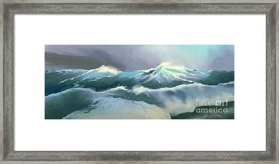 Wild Sea Framed Print by Corey Ford