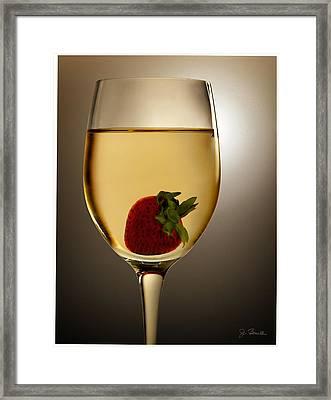 Framed Print featuring the photograph Wild Strawberry by Joe Bonita