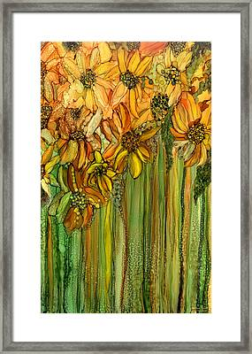 Wild Sunflower Garden Framed Print