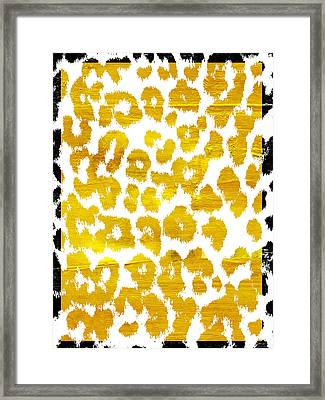 Wild Thing Leopard Pattern Framed Print by Mindy Sommers