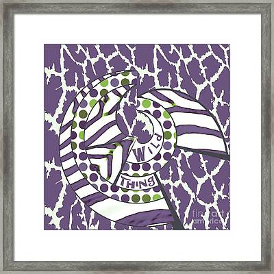 Framed Print featuring the digital art Wild Thing by Methune Hively