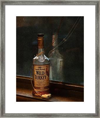 Wild Turkey In Window Framed Print
