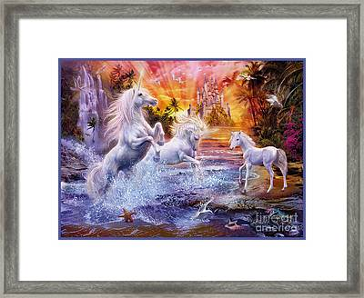 Wild Unicorns Framed Print by Jan Patrik Krasny