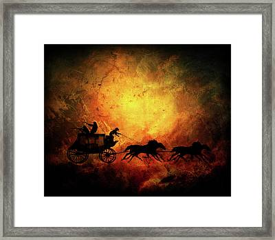 Wild Wast Cowboy Chaise Framed Print by Lilia D