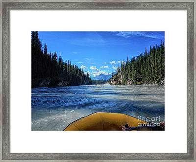 Wild Water Rafting Framed Print