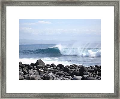 Wild Wave Framed Print by Chad Natti