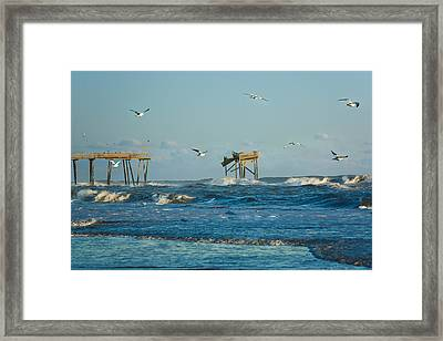 Wild Waves At Nags Head Framed Print