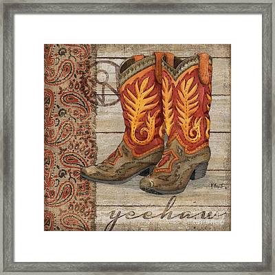Wild West Boots I Framed Print
