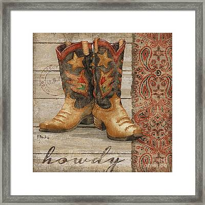Wild West Boots II Framed Print