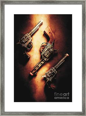 Wild West Cap Guns Framed Print by Jorgo Photography - Wall Art Gallery
