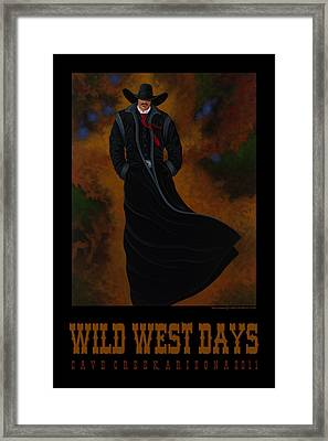 Framed Print featuring the painting Wild West Days Poster/print  by Lance Headlee