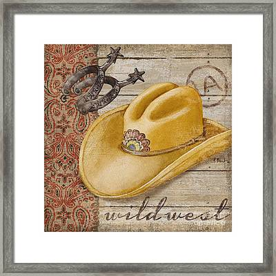 Wild West Hats II Framed Print