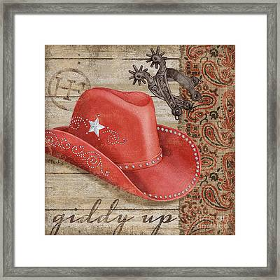 Wild West Hats IIi Framed Print