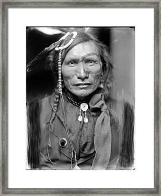Wild West. Iron White Man, A Sioux Framed Print