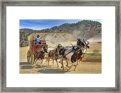 Framed Print featuring the photograph Wild West Ride by Donna Kennedy