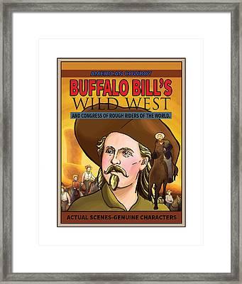 Wild West Show Poster Framed Print