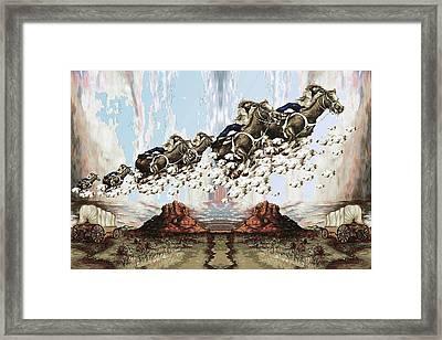 Wild West Sky Riders - Western Art Framed Print by Art America Online Gallery
