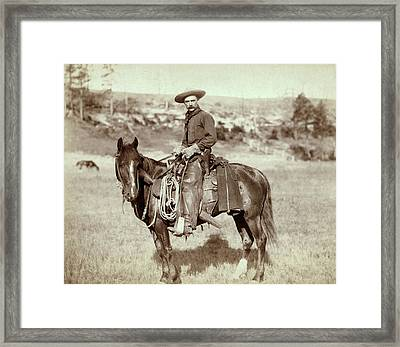Wild West. The Cow Boy. Sturgis, Dakota Framed Print