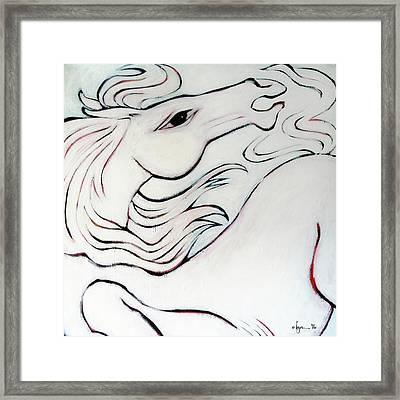 Wild White Framed Print