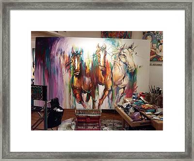 Wild Wild Horses Framed Print