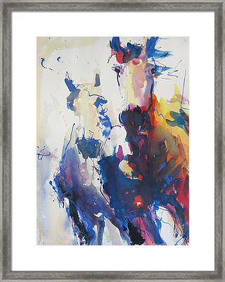 Framed Print featuring the painting Wild Wild Horses by Robert Joyner